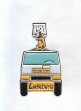 RARE PINS PIN'S .. CAMION TRUCK  BTP GRUE LEVAGE LEFEBVRE LOCATION ~A8
