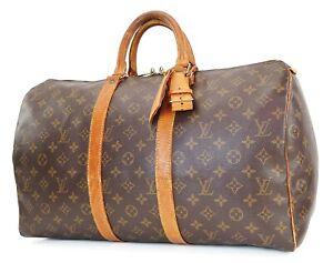 Authentic LOUIS VUITTON Keepall 45 Monogram Canvas Duffel Bag #40342