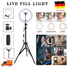 "10""LED Ringlicht Ringleuchte Lampe Handyhalter Kit Selfie mit Stativ Fotografie"