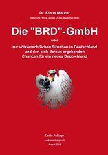 """Die """"BRD""""- GmbH - allerneueste 3. Auflage - 2016 - signiert!"""