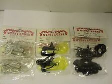 Gypsy Lures Salt & Pepper Skirted Twin Tail Jig Assort , 6 Count (New/Old Stock)