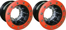 "Hiper Tech 3 Wheels Rims RED Rear Dual Beadlock 9"" 9x9 4+5 4/110 115 TRX Yamaha"