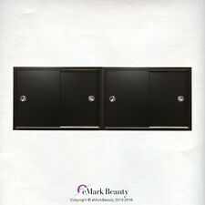 Black Upper Shampoo Bowl Double Cabinet Towel Storage TLC-SLIDING TC2two