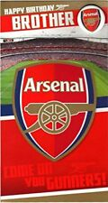 Arsenal Happy Birthday Brother Card with Badge NEW