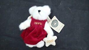 Boyds Orsetti Natale Cassandra Angelflight Hope Angel 83001 Peluche Nuovo