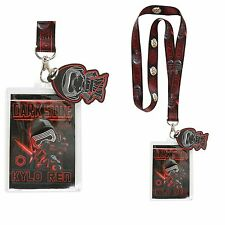 Disney Star Wars Kylo Ren Lanyard Funko Pop Toy Dark Side ID Holder Keychain NWT