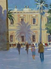 "ORIGINAL MICHAEL RICHARDSON ""Shadow of the Palm Seville"" Sevilla OIL PAINTING"