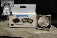 10 ✯ 1oz Silver Libertad Coin Snap Capsule 40mm QUADRUM 2x2 Holder Display