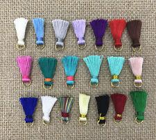 10pcs Mini artificial silk Tassel Metal ring DIY decoration accessories Tassels