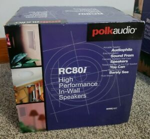 """Polk Audio RC80i 2-way Premium In-Ceiling 8"""" Round Speaker ***NEW***"""