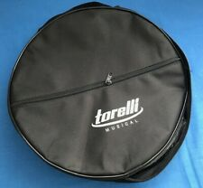 "11"" Brazilian Pandeiro Zipped Vinyl Soft Bag For Tambourine Percussion Accessory"