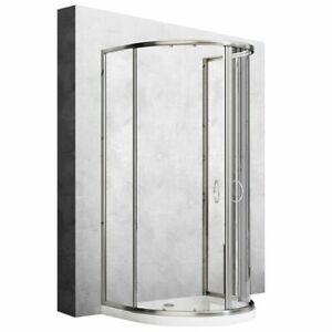 Duschkabine Duschabtrennung Dusche ROMANCE 3 90x100 cm REA 6 mm Glas halbkreis