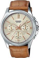 Casio MTP-1375L-9 Original Analog Leather Mens Watch Water Resistant MTP-1375L