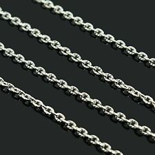 1M DE CHAINE CHAINETTE MAILLONS 3 MM X 2 MM METAL ARGENT NEUF A5