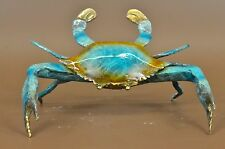 "VINTAGE BRONZE METAL CRAB MARINE SEA WILDLIFE CLAW 8"" SCULPTURE FIGURINE FIGURE"
