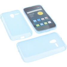 Case for Alcatel One Touch Pixi 3 4.0 3G/4G Cell Phone Case TPU Rubber Blue