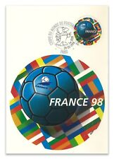 France 1998 World Cup Football Round Stamp Maximum Card