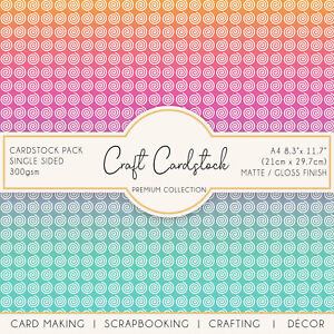 Rainbow Circle Pattern Card Making Journaling A4 300gsm Craft Cardstock Cricut