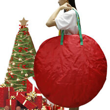 """Large Red Holiday Christmas Wreath Storage Zippered Bag For 30"""" Inch Wreaths"""