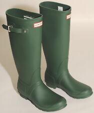 """HUNTER WOMENS ORIGINAL TALL GREEN RAIN BOOTS SIZE 9 16"""" Shaft $150 G1"""