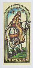 PAGAN WICCAN GREETING CARD Rhiannon GODDESS HORSE Blank CELTIC HEDINGHAM FAIR