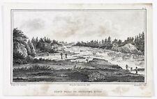 1824 Slave Falls Winnipeg River Canada S. Seymour Engraving Exploration Survey