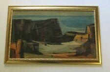 MID CENTURY MODERN PAINTING EXPRESSIONISM LARGE LANDSCAPE MODERNIST 1950'S ART