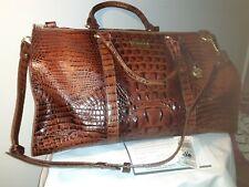 Brahmin Anywhere Weekender Pecan Brown Duffle Bag Travel Luggage