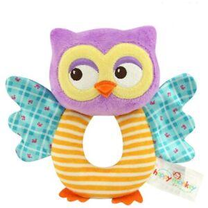 Playpen Baby® Plush Purple Owl Hand Bell Rattle