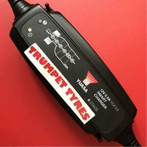 Yuasa Motorcycle 12V Smart Battery Easy Charge Trickle Charger 4 MX Scooter
