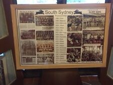 Framed Sports Memorabilia South Sydney Rabbitohs Rugby League History Montage