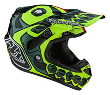 Troy Lee Designs SE4 Skully Pink Flo Yellow COMP MIPS Motocross Helmet Adults