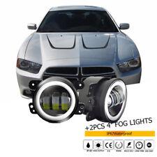 2011 2012 2013 2014 Dodge Charger Halo Fog Lamp Driving Light LED Angel Eyes
