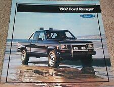 1987 Ford Ranger Pickup Truck Large Sales Brochure