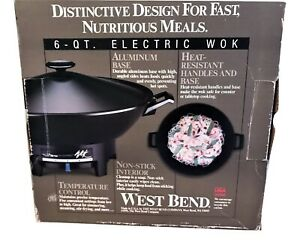 West Bend 6 Quart Electric Wok Model NEW IN THE BOX MADE IN USA