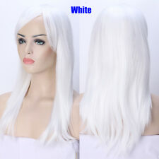 Thick Long Ombre Rainbow Cosplay Wig Body Wave Full Wigs Pink White Mix Blonde Y