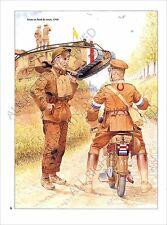 PLANCHE UNIFORMS PRINT WWI Tommies Tommy British Army Armée britannique UK
