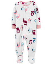 Carter's Baby Girls Owls Fleece Footed Pajamas, Size 24 Months