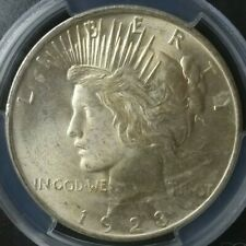 1923 $1 Peace Silver Dollar PCGS MS64+