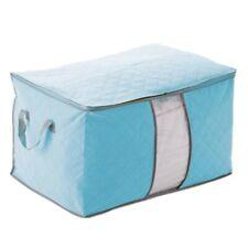 Bleu Housse De Rangement Stockage Sac Boite Pliable Pour Couette Vetement 6 K4Z7