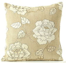 Chenille Floral Contemporary Decorative Cushions