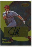 1998 Juan Gonzalez AUTO Signed BOWMAN'S BEST REFRACTOR Ebay 1/1 Texas Rangers