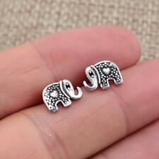 Elephant Design Ethnic 925 Sterling Silver Stud Earrings Jewellery Plain Pure