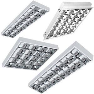 SET LED Rasterleuchten Bürolampe Deckenleuchte inkl. LED T8 G13 60cm/120cm/150cm