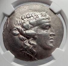 THASOS Thrace 148BC Dionysus Hercules Silver Greek Tetradrachm Coin NGC i60124