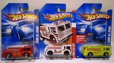 Hot Wheels 2008 All Stars Wildland Fire Eater Pumper Tanker Truck Engine Lot
