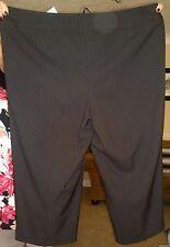 Evans Cropped Length RRP £18 Black Pinstripe Size 20 BNWT