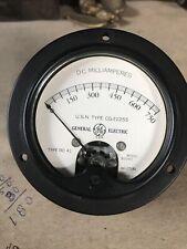 (I) Vintage General Electric DC Milliamperes Gauge  Type DO-41 Model 80041