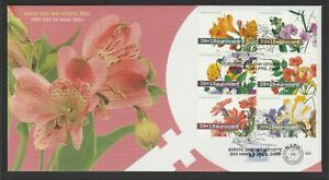 NETHERLAND - 2003  FLOWER Paintings Block of 6  VF Used on FDC