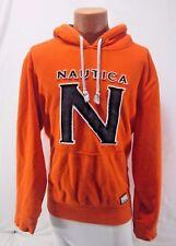 VINTAGE NAUTICA Orange Sewn/Embroidered Hoodie Pullover Men's XL